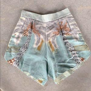 Alison Izu Hawaii Print High Waist Elastic Shorts